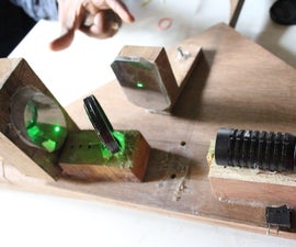 CHEAP INTERFEROMETER FOR OPTICAL TESTING OF TELESCOPE MIRRORS.