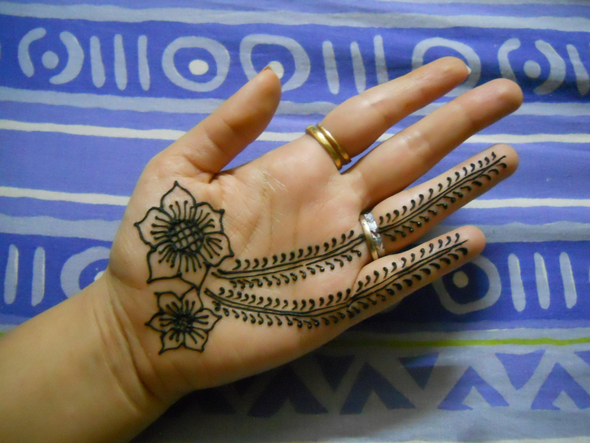 How To Do Henna Design For Beginners 4 Steps Instructables,Spiritual Line Art Geometric Tattoo Designs