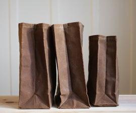 "DIY ""Brown"" Bag (waxed canvas lunch bag)"
