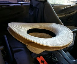 Cowboy Hat Holder for Truck (using a tennis racket)
