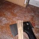 Easy disposable floor drain cleaner