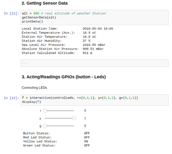 Getting Sensor Data and Handling With GPIOs