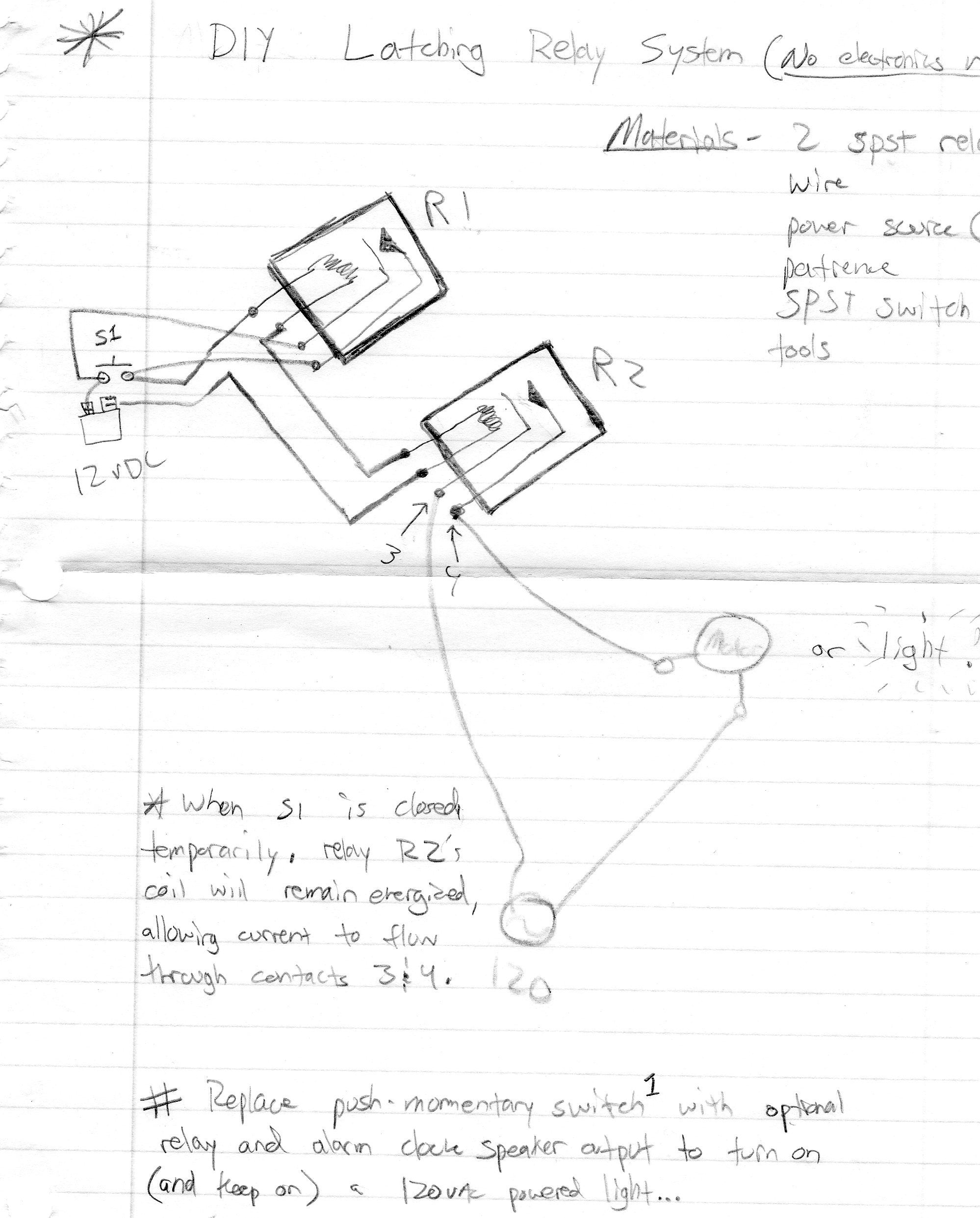 Diy Latching Relay System Latch Logic Diagram Including Circuit