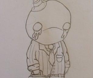 How to Draw Mr Sad
