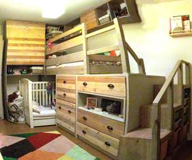Optimized Wooden Bedroom for 2 Children