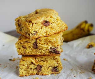 Almond Butter Banana Cookie Bars