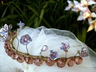 Faux Metal Bridal Tiara