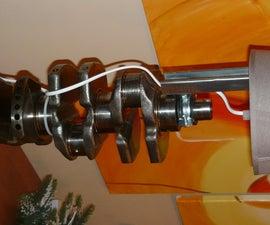 Lancia Lybra crankshaft table lamp DIY