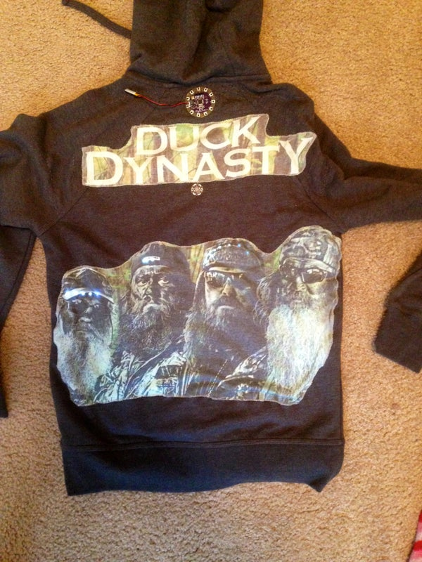 Arduino LilyPad Duck Dynasty Hoodie With Sound and LED Lights