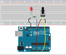 Controllig LED by Potentiometer