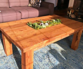 (Almost) Free Coffee Table With Planter