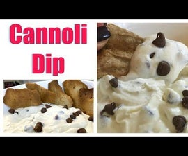 Cannoli Dip With Homemade Shells