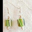 DIY How to Make Hemp Macrame Earrings with Green Beads