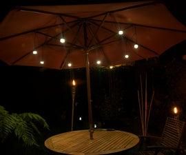 LED Patio Umbrella Jar Lights