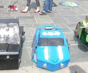 Transforming Batmobiles and Robin Motorcycle