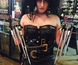 Cheap DIY Edward Scissorhands Costume