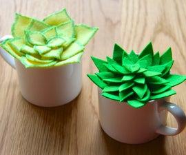 DIY Felt Succulents