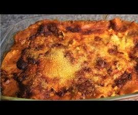 Hot Lasagne With Feta & Parmesan Cheese Recipe