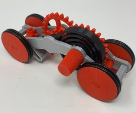 How I Designed a 3D Printed Windup Car Using Autodesk Fusion 360.