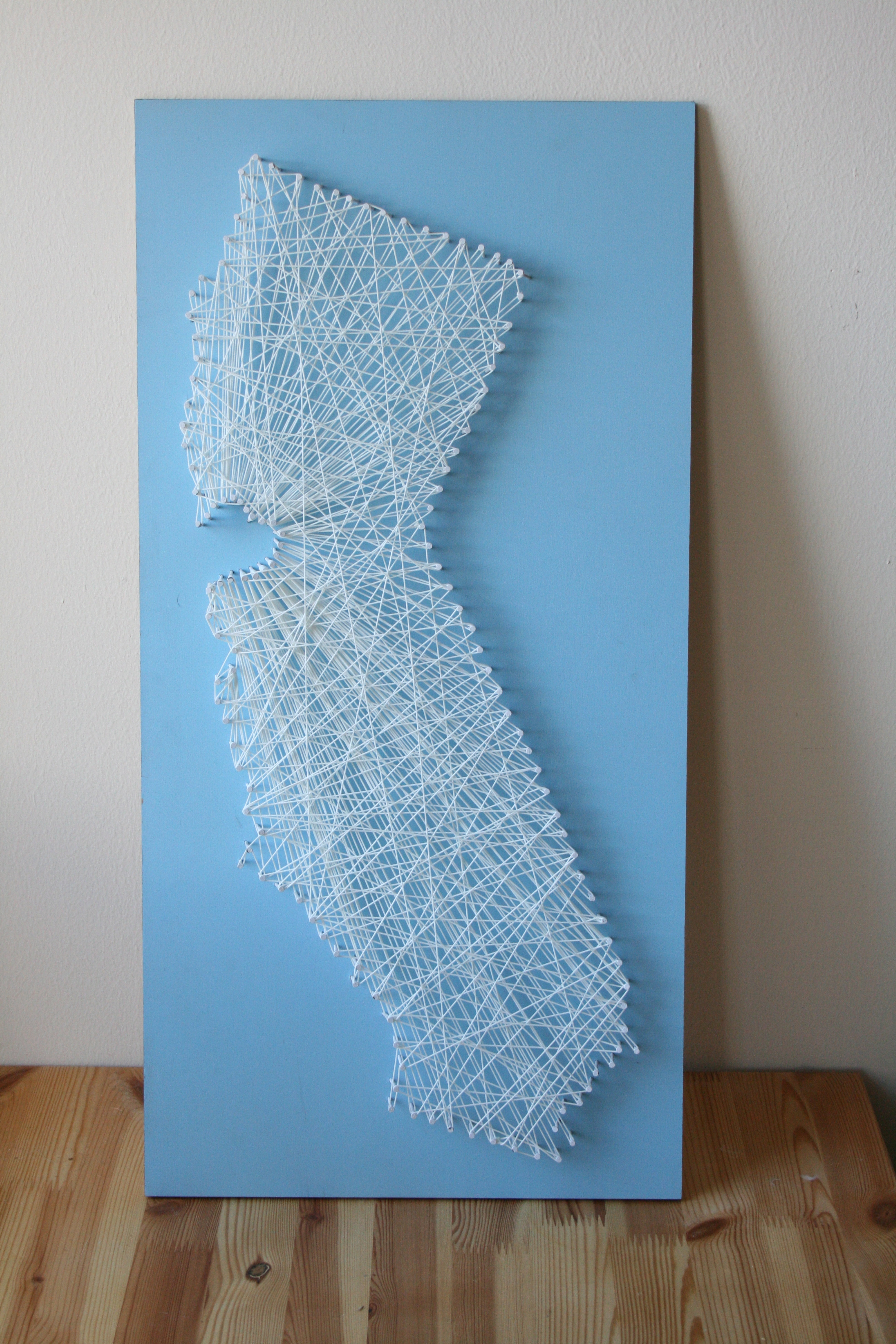 String Art Map: 4 Steps (with Pictures)