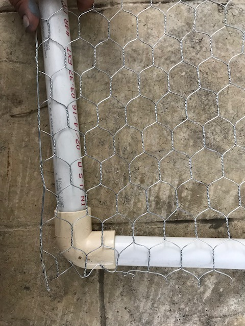 Picture of Place Galvanized Hex Mesh Over PVC Structure