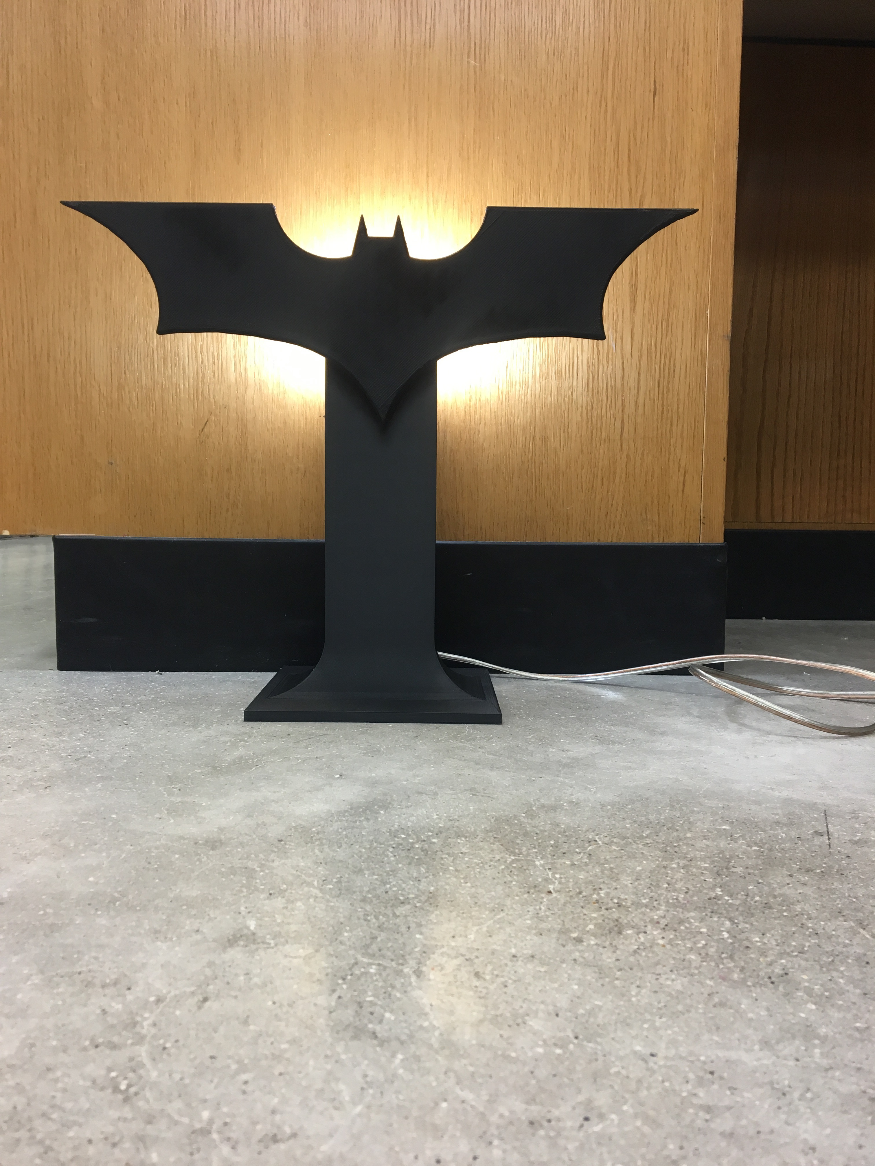 Picture of Connecting the Light Socket and Base Stand to the Batman Logo (Finishing Up)