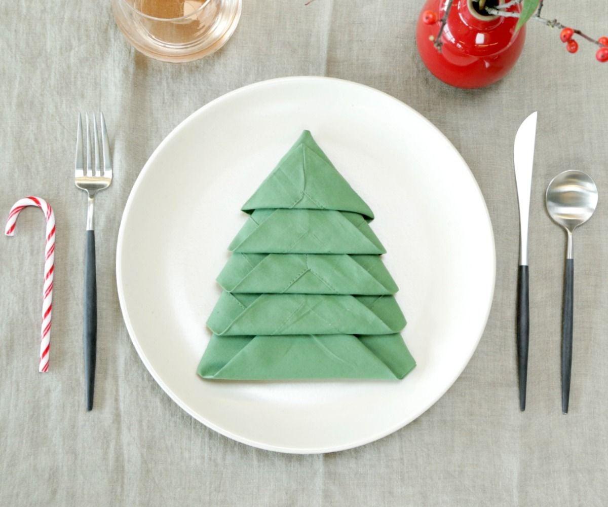 4 Ways to Fold Napkins for Christmas - wikiHow   1000x1200