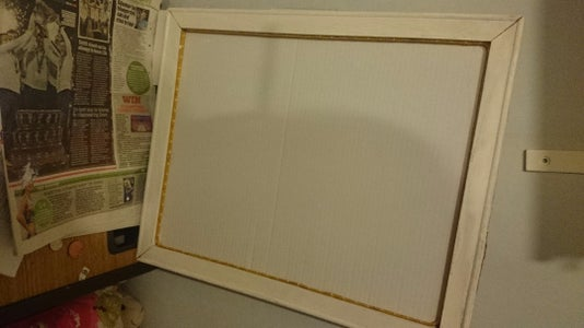 Glue the Wooden Frame to the Carboard