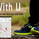 """With U Smart Sole"" DIY GPS Embedded Smart Shoe Sole #MITBetterWorld"