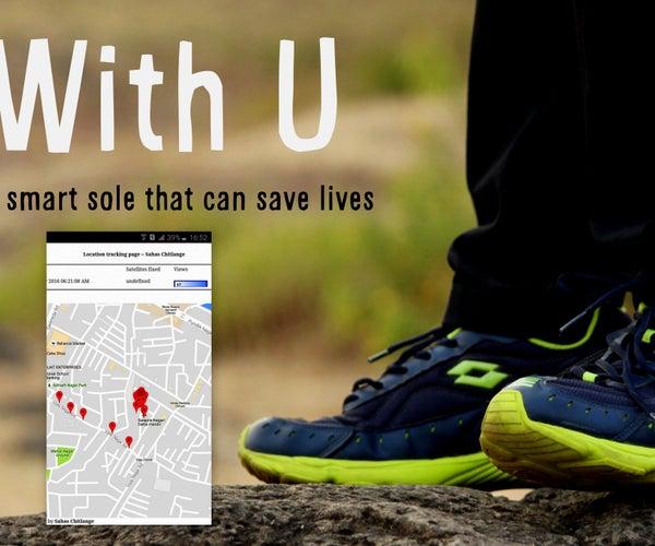"""With U Smart Sole"" DIY GPS Embedded Smart Shoe Sole #MITBetterWorld"