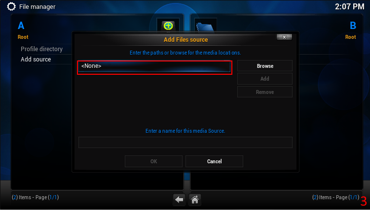 Picture of Add an External File Source for 3rd Party Addons.