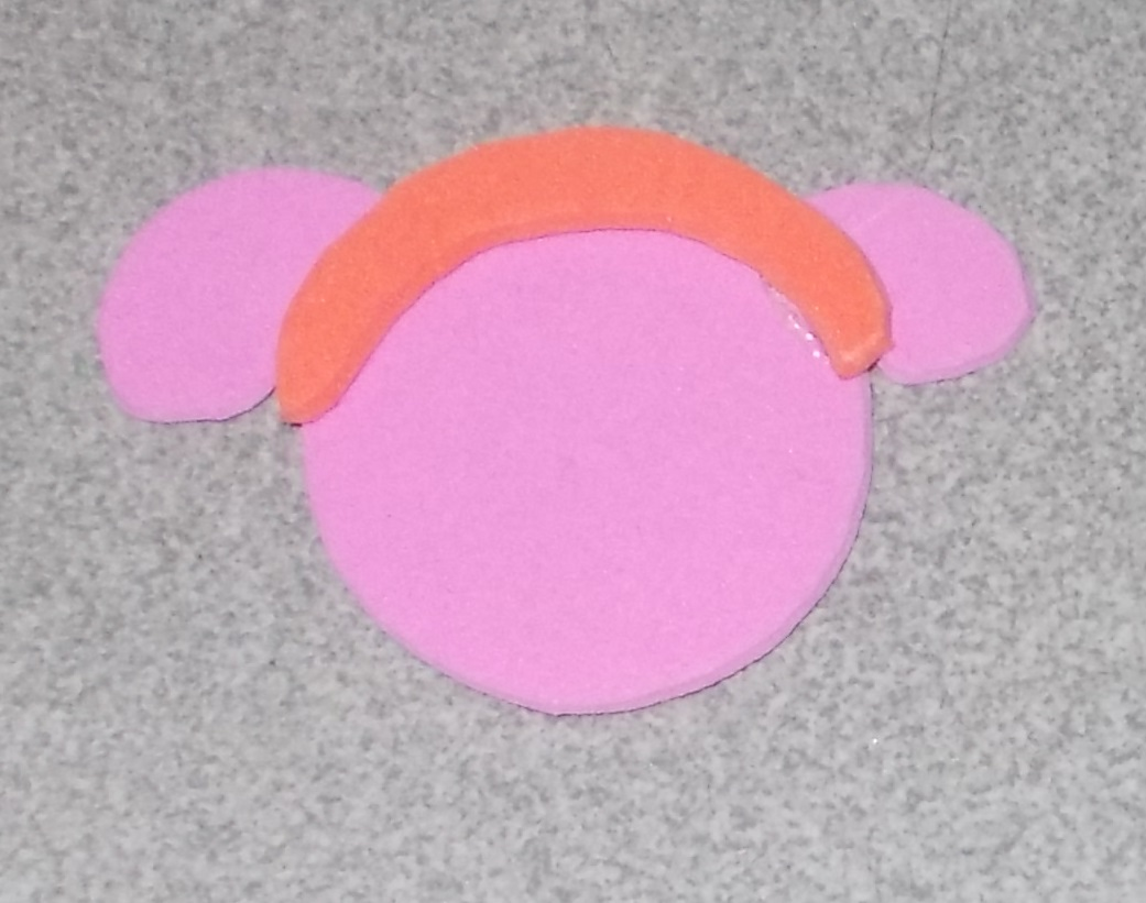 Picture of Use the Glue-gun to Glue the Headband on the Head.