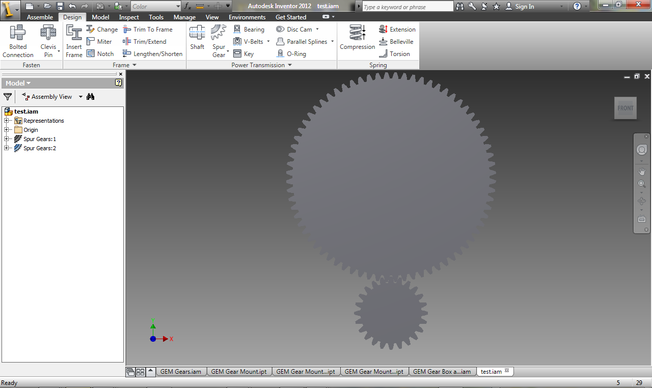 Picture of Designing the Gears