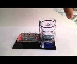 Water Level Indication Using Combination of three NPN Transistors
