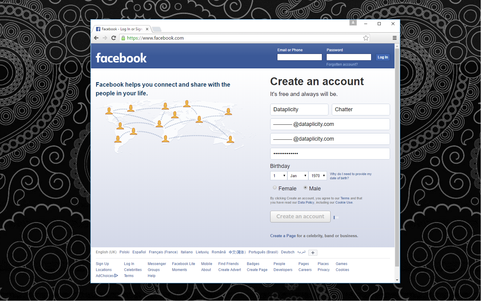 Picture of CREATE a FACEBOOK ACCOUNT