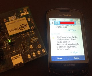 Send Texts With Intel Edison (Party Alarm)