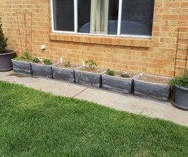 Cost Effective Plastic-tub Wicking Beds