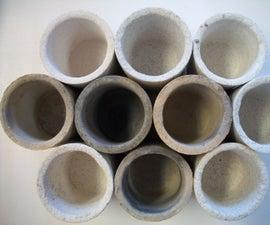 Make a clay crucible mold