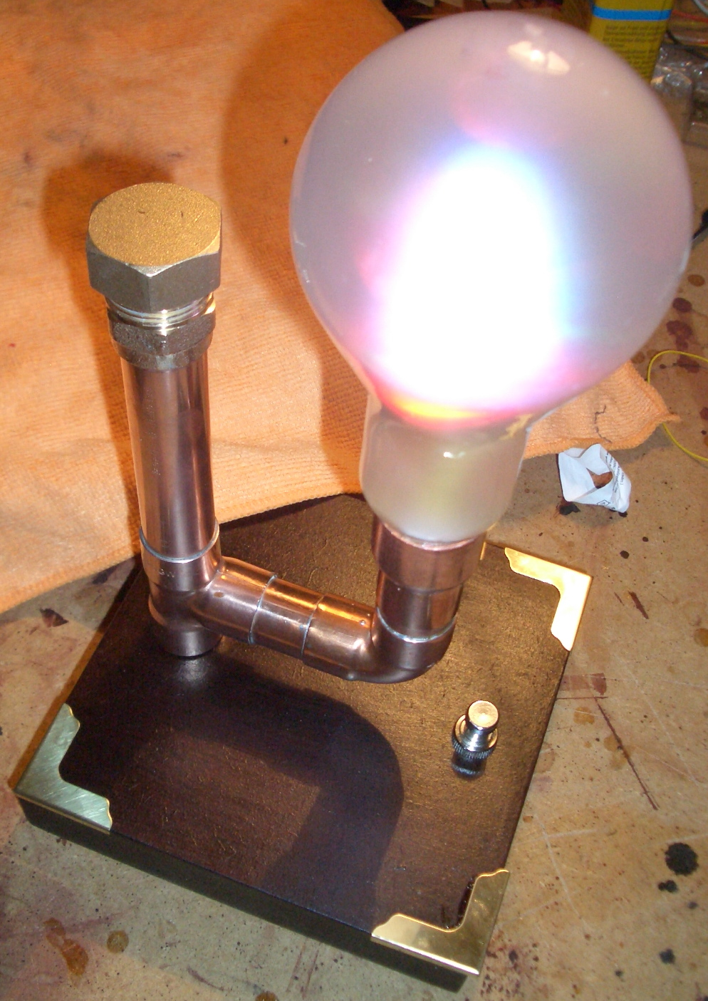 Picture of A Steampunk Lamp With Muliti Color LEDs