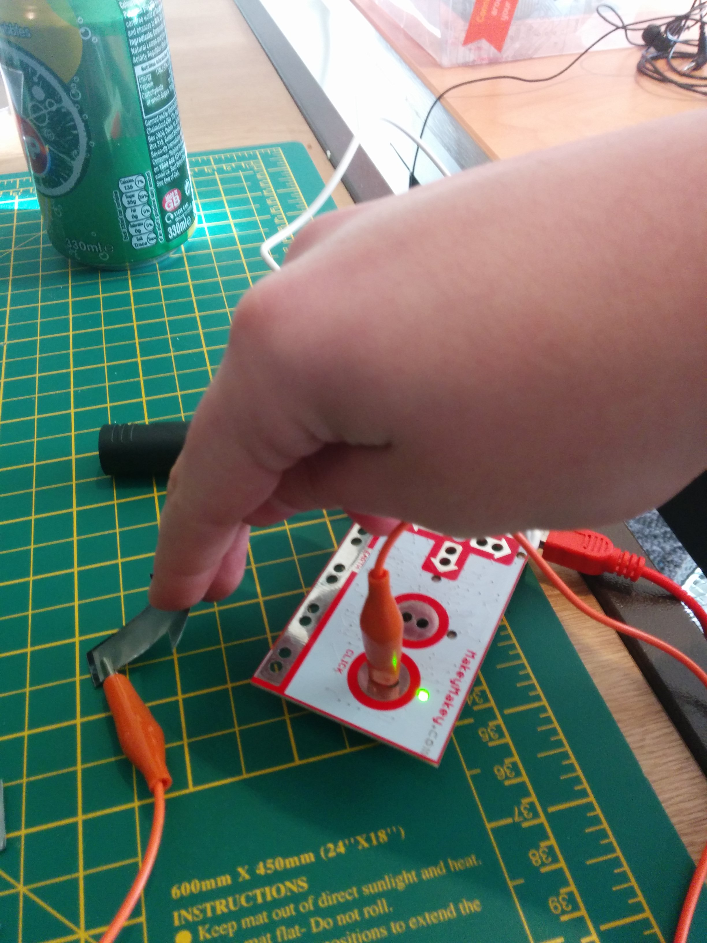 Picture of Check That the Makey Makey Can Detect Key Presses