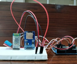 Temperature and Humidity Data Logger From Arduino to Android Phone With SD Card Module Via Bluetooth