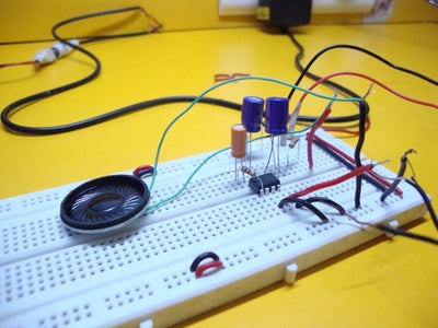 Prototype the Amplifier Circuit on Breadboard