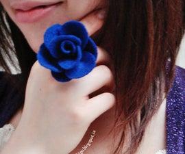 DIY: Felt Rose Ring { Tutorial }