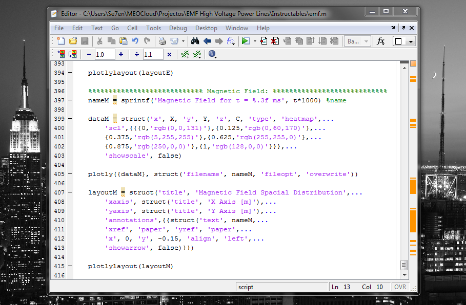Picture of Sending Data With MATLAB