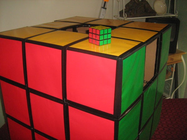 How to Make a Rubiks Cube Costume.