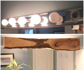 Wood Cover for Bathroom Light