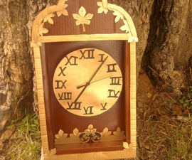 Card board clock