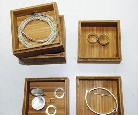 Mini Stacking Wood Boxes