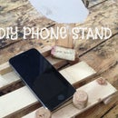 Wood & Cork Phone Reading Stand!