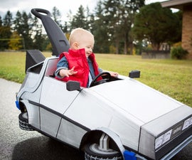 Littlest Marty McFly and his Delorean Push Car